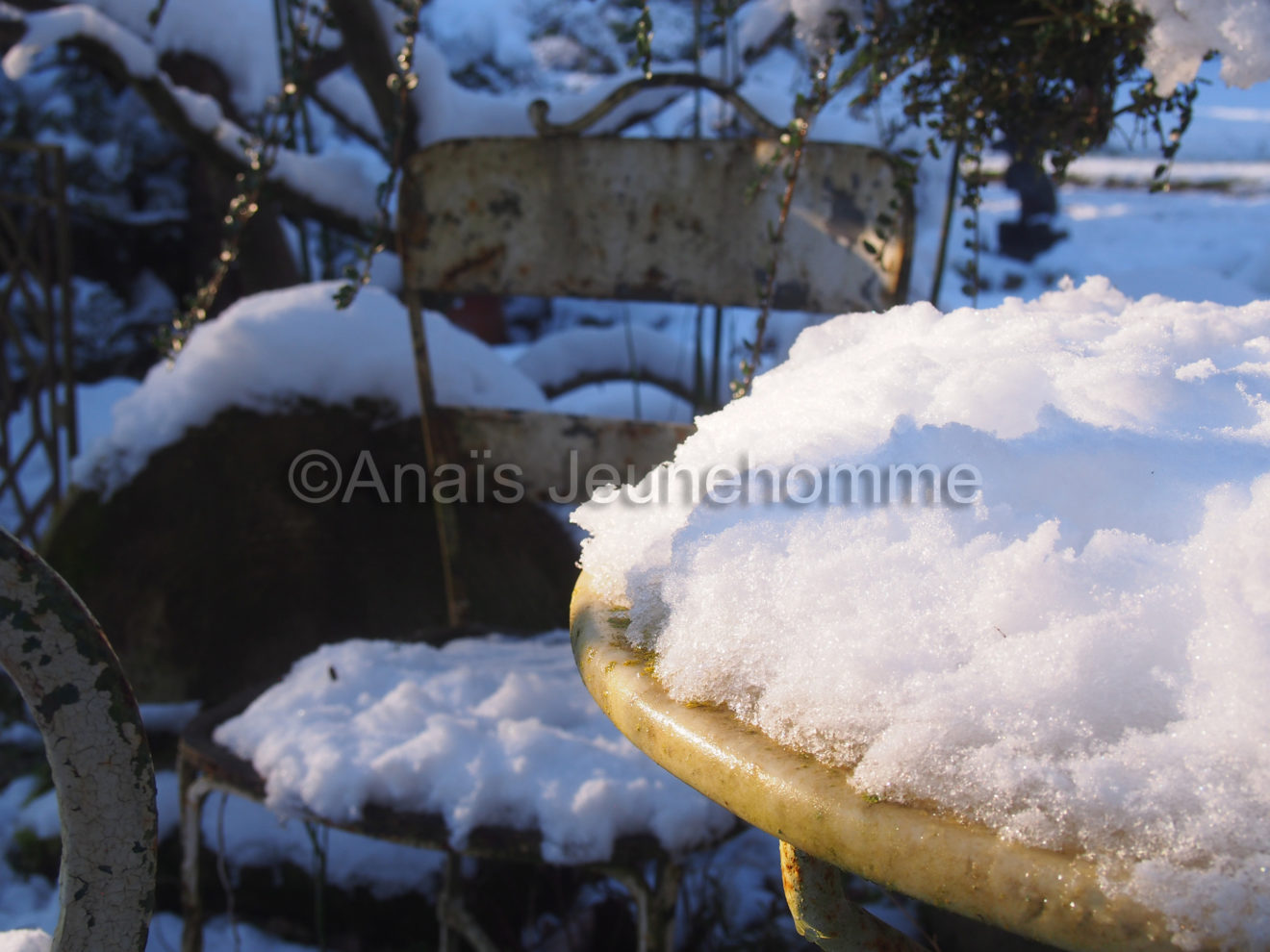 Dînette neigeuse