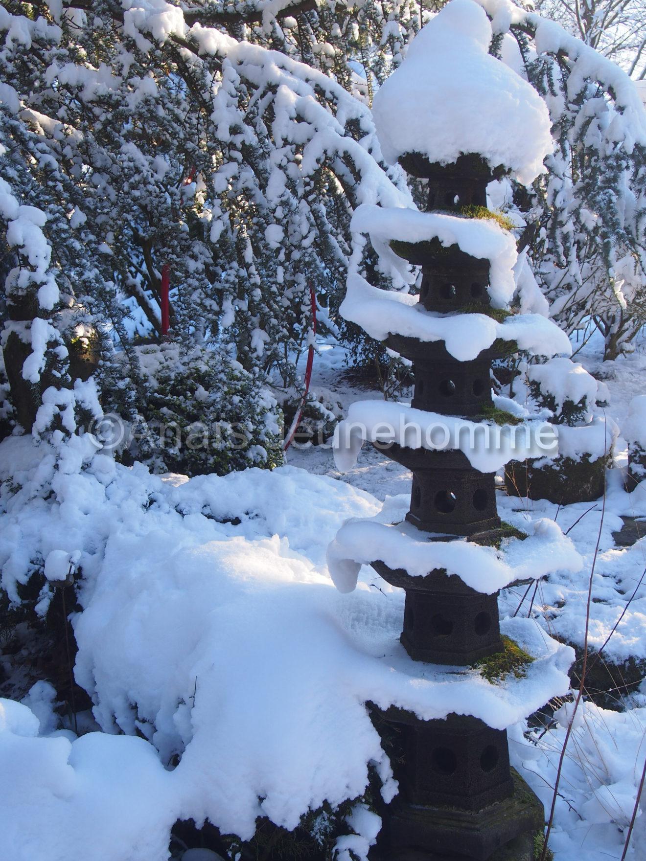 Tour japonaise enneigée