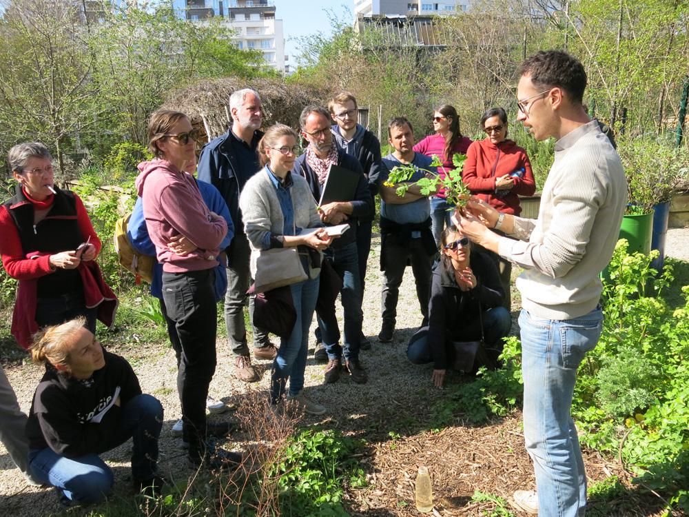Visite et apprentissage aux Jardins Passagers à La Villette, avec Nicolas Boehm
