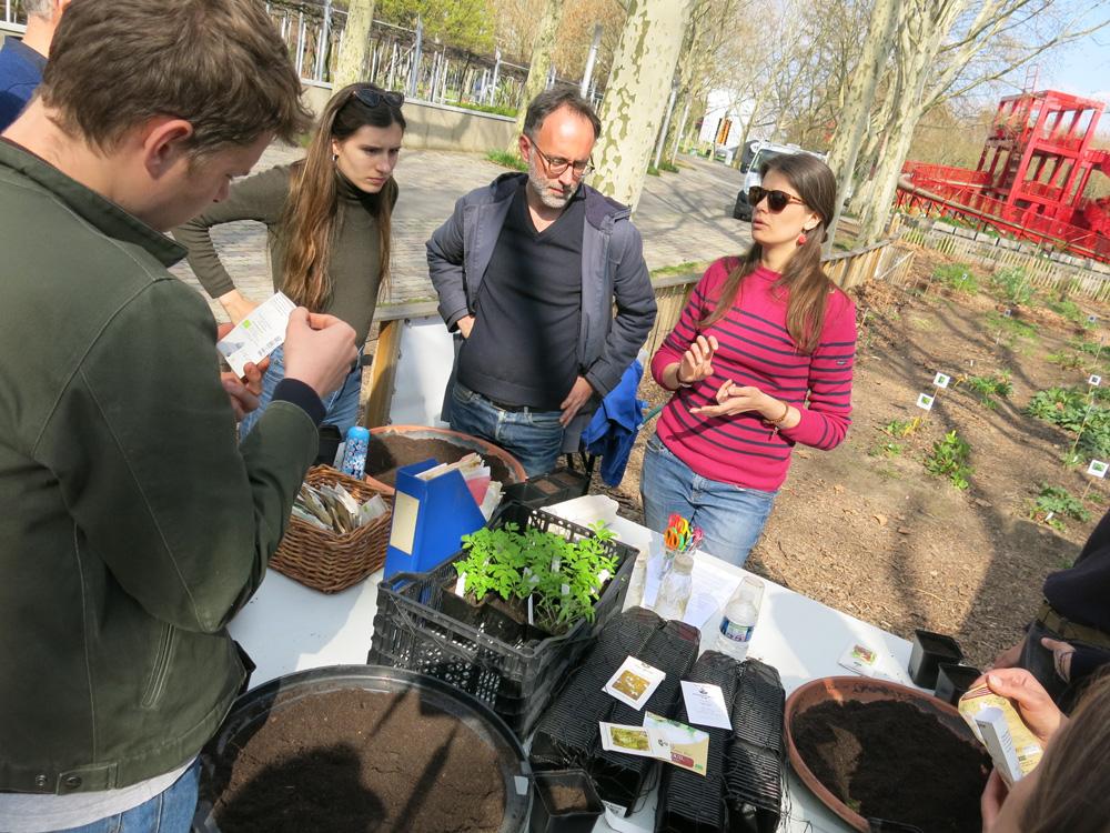 Atelier semis au Jardin nourricier à La Villette