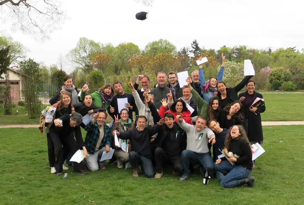 Photo de groupe après la remise des certificats